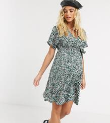 Платье мини с запахом и цветочным принтом -Мульти New Look Maternity 9966844