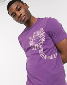 Фиолетовая футболка с логотипом -Фиолетовый Pretty Green 9754726