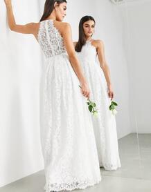 Кружевное свадебное платье макси -Белый ASOS Edition 9435452