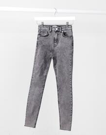 Черные джинсы скинни с завышенной талией -Черный NA-KD 10648608
