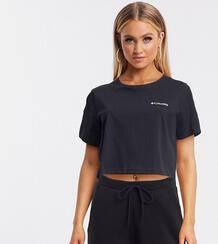 Черная укороченная футболка с принтом на спине North Cascades – эксклюзивно для ASOS-Черный цвет Columbia 9695241