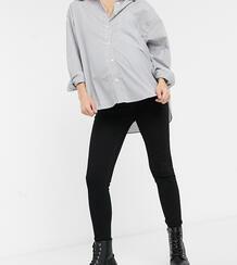 Черные джинсы скинни с завышенной талией для беременных -Черный Urban Bliss Maternity 10226339