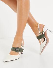Многоцветные туфли на среднем каблуке в спортивном стиле Sasha-Многоцветный ASOS DESIGN 11341728