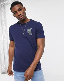 Темно-синяя футболка с логотипом -Темно-синий Pretty Green 9754586