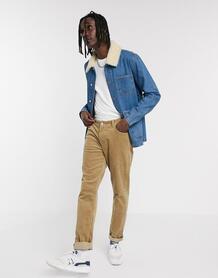 """Синяя джинсовая куртка со съемным воротником """"борг"""" -Синий ASOS DESIGN 9462352"""
