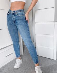 Голубые джинсы скинни с классической талией -Синий Pieces 10316940