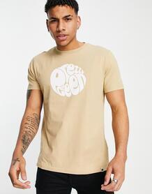 Светло-бежевая футболка с логотипом Gillespie-Нейтральный Pretty Green 11650583