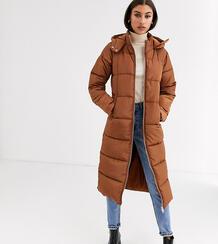 Удлиненная дутая куртка -Коричневый Glamorous Tall 8930445