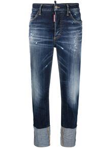 прямые брюки с подворотами Dsquared2 161526845248
