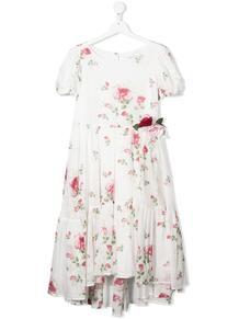 ярусное платье с цветочным принтом Monnalisa 1650730583