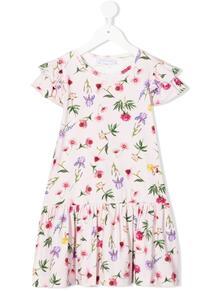 платье с оборками и цветочным принтом Monnalisa 1649199054
