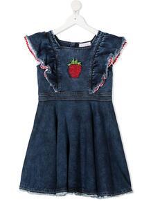 джинсовое платье с оборками Monnalisa 1650662956