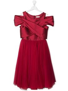 платье с драпировкой Monnalisa 1649575683