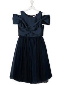 платье с драпировкой Monnalisa 1649574877