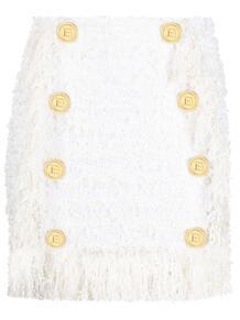 юбка с декоративными пуговицами BALMAIN 161679675152