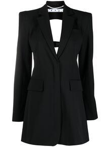 платье-пиджак с вырезом OFF-WHITE 162542055154