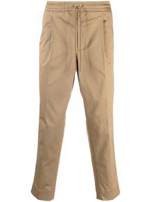 укороченные брюки с кулиской и лампасами MONCLER 164223575254