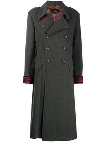 длинное двубортное пальто Etro 154114885254