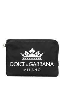 клатч с принтом логотипа Dolce&Gabbana 13082492636363633263