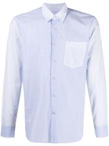 полосатая рубашка с контрастной вставкой Lanvin 164893485156