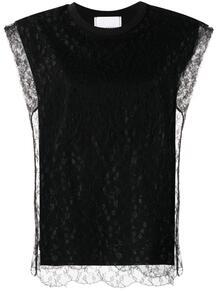 блузка с кружевом PHILOSOPHY DI LORENZO SERAFINI 1652096583