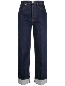джинсы прямого кроя с подворотами ERIKA CAVALLINI 164686265252