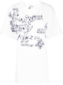 футболка оверсайз Valentine's Flowers Kenzo 1633801083