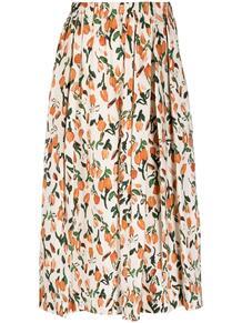 юбка со складками и цветочным принтом Marni 165721335154