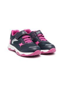 двухцветные кроссовки на шнуровке Geox 162944215149
