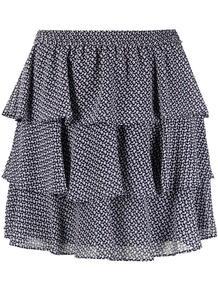 мини-юбка с оборками и цветочным принтом Michael Michael Kors 160960758883