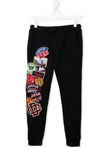 спортивные брюки с нашивками Dsquared2 Kids 16562723495432121114