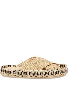 плетеные шлепанцы с логотипом FF Fendi 1637003054