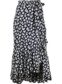 юбка с запахом и цветочным принтом Polo Ralph Lauren 1645801550