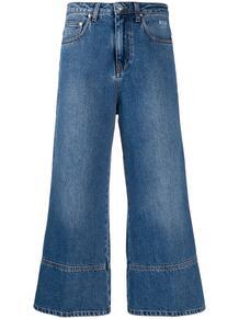 укороченные расклешенные джинсы MSGM 142490345248