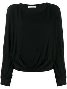 блузка свободного кроя с вырезом-лодочкой STEFANO MORTARI 146044355252