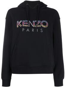 толстовка с логотипом и капюшоном Kenzo 150041408883