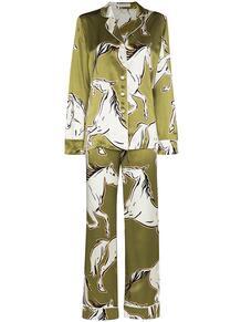 пижама Lila Chevalier с принтом Olivia Von Halle 1607729083