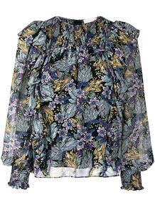 блузка Harriet с цветочным принтом CINQ À SEPT 1638921976
