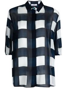 клетчатая рубашка с пышными рукавами PS Paul Smith 165252625156