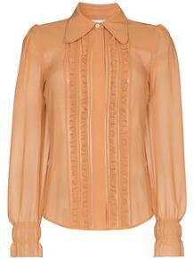 рубашка на пуговицах с оборками Victoria Beckham 161857244950
