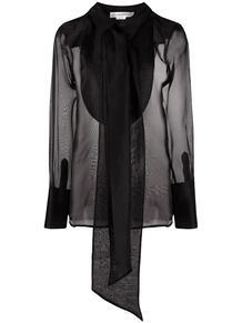 полупрозрачная блузка с бантом Victoria Beckham 161744434950