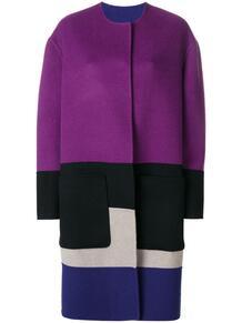 reversible colour block coat Bottega Veneta 131542265156