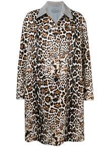 пальто с леопардовым узором Bottega Veneta 133911175248