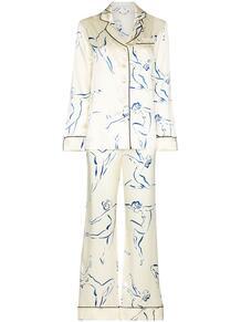 пижама Lila Euripides с принтом Olivia Von Halle 1607727483