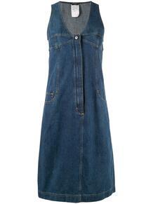 платье миди из денима Chanel Pre-Owned 139834645156