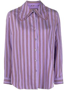 полосатая рубашка с оборками на воротнике PS Paul Smith 165792405254
