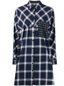 платье-рубашка в клетку McQ Swallow 142027565154