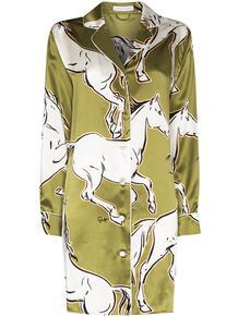 ночная сорочка Poppy Chevalier с принтом Olivia Von Halle 1607727277