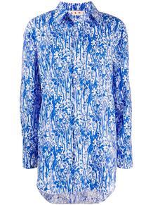 рубашка оверсайз с цветочным принтом Marni 151637535252