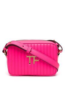 стеганая сумка через плечо с аппликацией-логотипом Tom Ford 16449462636363633263